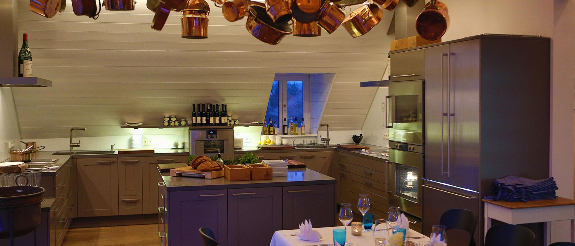 Kochbereich im Kitchen Club in Dagobertshausen