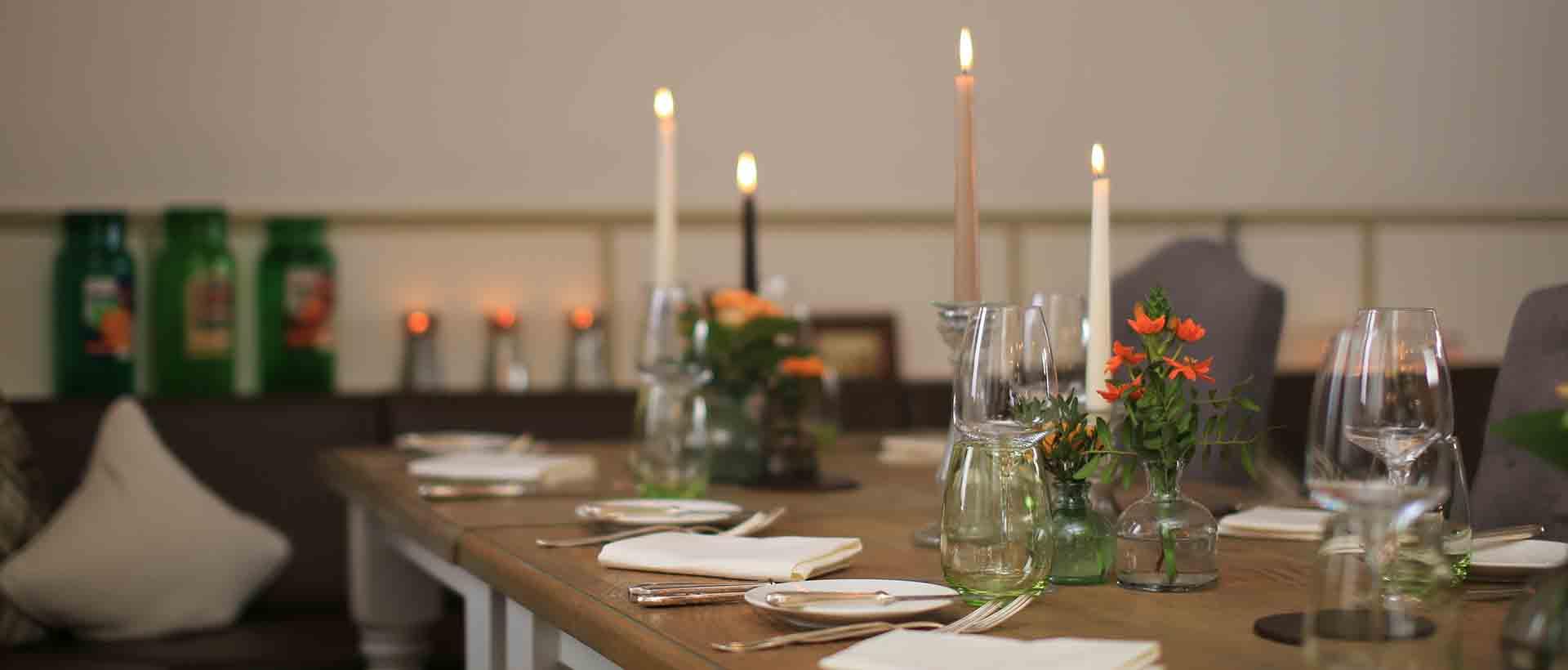 Gemütliche Atmosphäre im Restaurant Waldschlösschen in Dagobertshausen