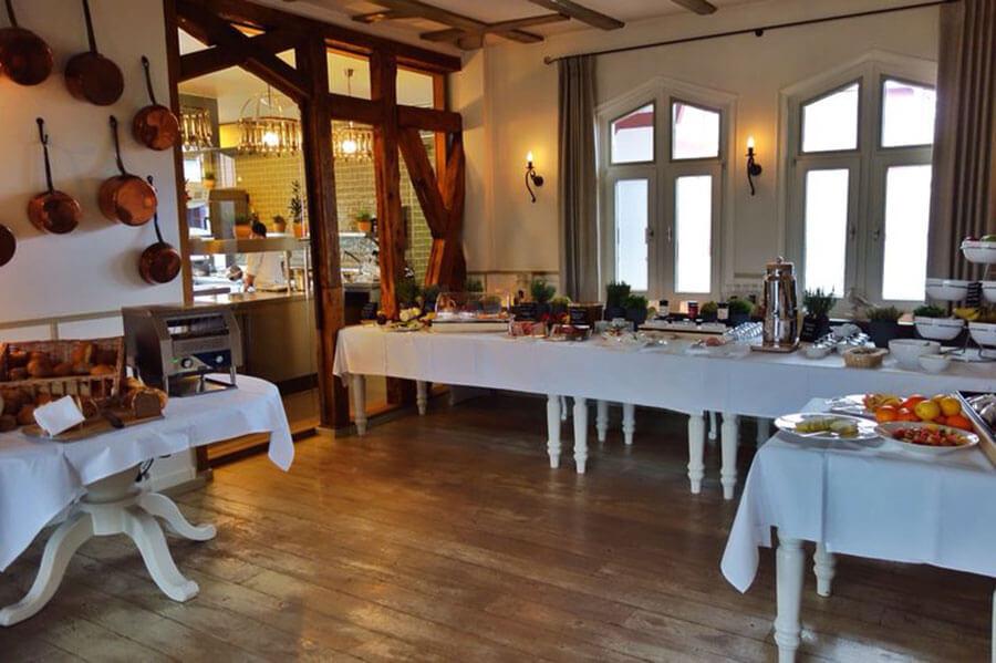 Das Frühstücksbuffet im Restaurant Waldschlösschen
