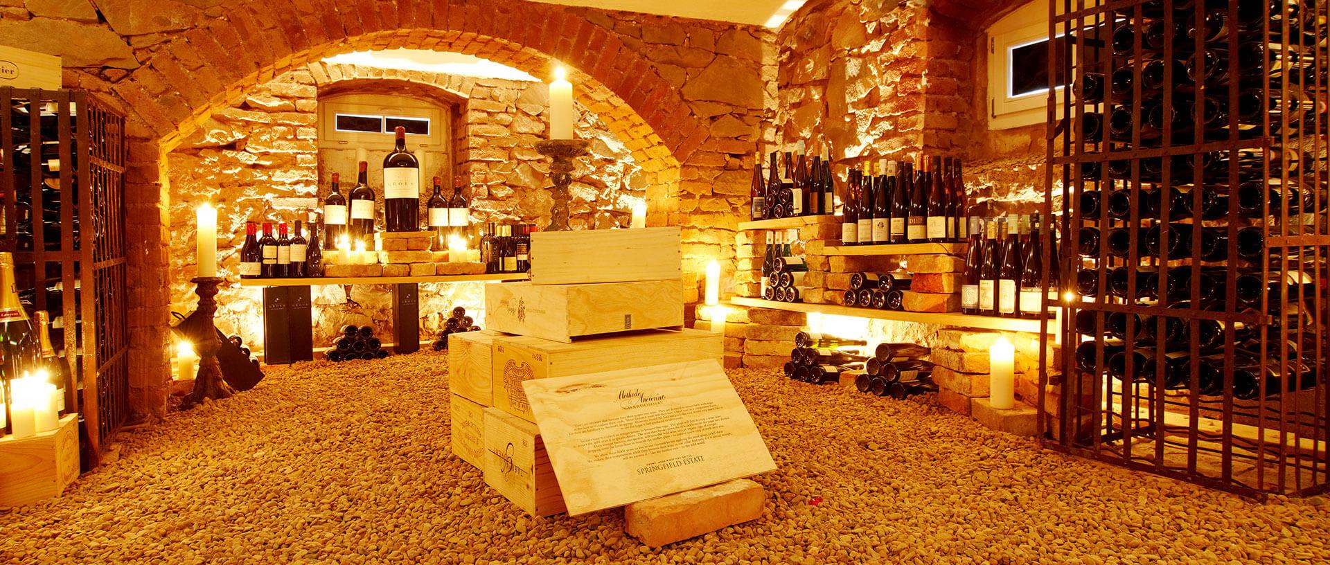 Weinkeller im Restaurant Waldschlösschen